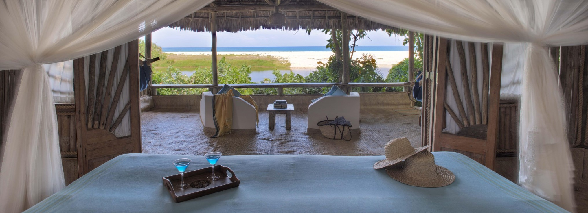 Enjoy the incredible views towards the Indian Ocean from the beach cottages at Ras Kutani