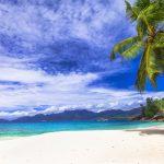 scenic panorama one of the beautiful beaches in Seychelles